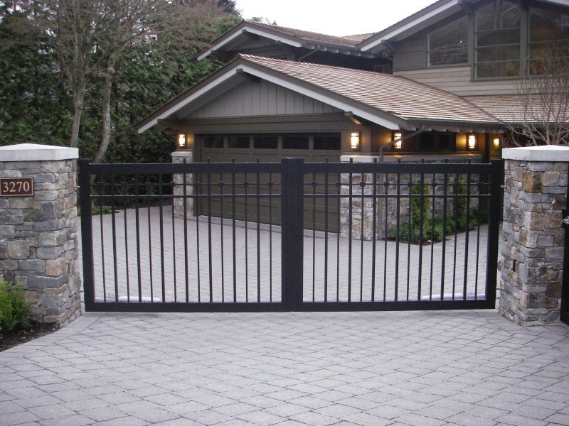 Wood driveway gates product pictures to pin on pinterest